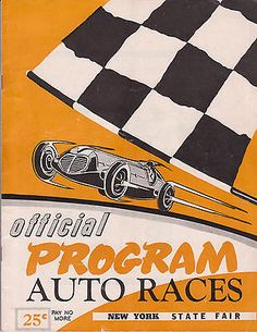 1952 Program AAA Indy Car Syracuse 100 Mile Big Car NY State Fair - Mike Nazaruk