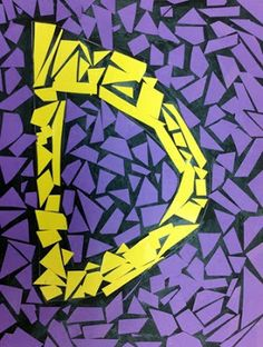 Mosaic Letters: we could do this fun mosaic as we study about Ancient Rome mosaics