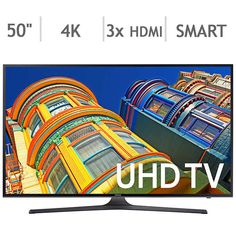 "Samsung 50"" 4K Ultra HD LED LCD TV - UN50KU630DFXZA $450 @ Costco (KU6300) #LavaHot http://www.lavahotdeals.com/us/cheap/samsung-50-4k-ultra-hd-led-lcd-tv/140101?utm_source=pinterest&utm_medium=rss&utm_campaign=at_lavahotdealsus"