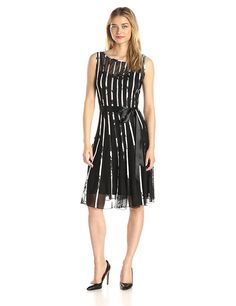 S.L. Fashions Women's Printed Mesh Illusion Dress >>> This is an Amazon Affiliate link. Find out more about the great product at the image link.