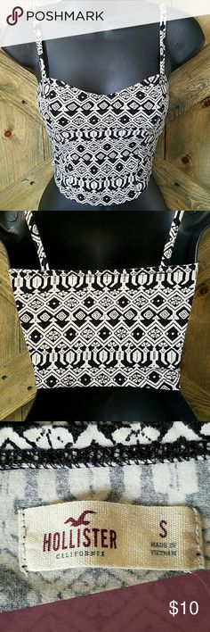 Hollister Top Cute tribal spaghetti strap top. Size small Hollister Tops Crop Tops
