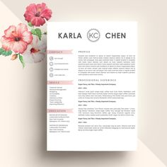 Resume Template CV + Cover Letter @creativework247
