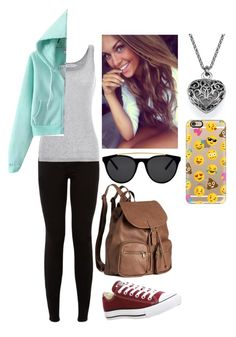 """""""Beth S"""" by xxabbeybearxx ❤ liked on Polyvore featuring Velvet by Graham & Spencer, Casetify, Smoke & Mirrors, H&M and Converse"""