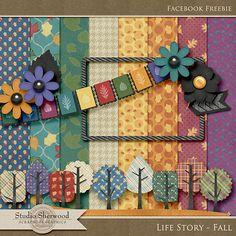 Quality DigiScrap Freebies: Life Story - Fall mini kit freebie from Sherwood Studio