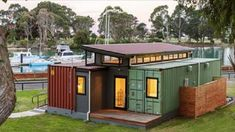 Cargo Container Home. Watch me building my cargo container home. Search and find local help that you may need for building your cargo container home at a minimal cost. Cargo Container Homes, Shipping Container Home Designs, Storage Container Homes, Building A Container Home, Container Cabin, Container Buildings, Container Architecture, Container House Plans, Container House Design