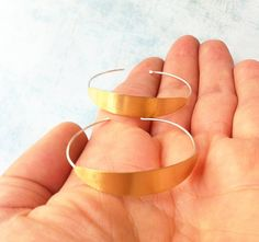 Sterling silver and brass earrings ref.10216BAM3AL - hoop earrings - contemporary jewelry - minimalist earrings - delicate jewelry - golden