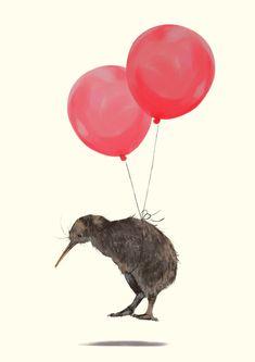 Kiwi Bird Can Fly Carry All Pouch / Travel & Pencil Pouch by Big Nose Work - Medium x Kiwi Bird, Kiwiana, Bird Drawings, Becca, Bananas, Calming, Framed Art Prints, Blond, Cool Art