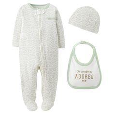 Precious Firsts�Made by Carter's� Newborn 3 Piece Sleep N' Play Set