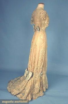 Lace Tea Gown, c. 1908