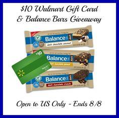 Balance Bar Prize Pack   $10 Walmart GC Giveaway!