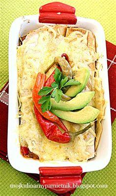 Bernika - mój kulinarny pamiętnik: Meksykańskie naleśniki zapiekane