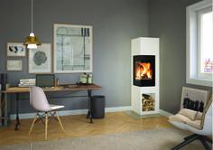 Odense, modern Scandinavian design Fireplace. www.nordpeis.com