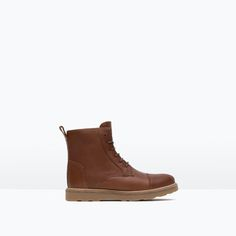 ZARA - KIDS - LEATHER BOOTS WITH TRACK SOLE