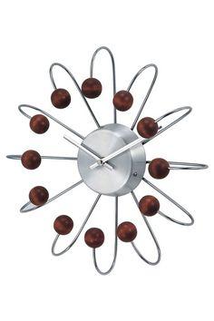Mid-Century Furniture Classics  George Nelson Wooden Atomic Clock - Walnut