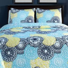 Spin 3 Piece Quilt Set Color: Aqua, Size: Full / Queen by American Mills, http://www.amazon.com/dp/B00CJKNM90/ref=cm_sw_r_pi_dp_6QQ6rb0QRT1HJ