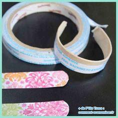 Bâtonnets en bois en forme de bracelets