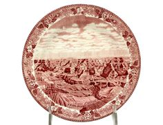 And here's a Utah Parks Co. Red Transferware Staffordshire Eglan Plate for $35 in froggieb 's Bonanza booth.