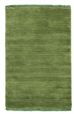 Handloom fringes - Dark Green-matto 60x90