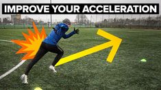 Improve your acceleration - learn football skills. In today's speed tutorial, we team up with Tanner Speed Academy to teach you how to improve your accelerat. Rugby Drills, Soccer Training Drills, Soccer Workouts, Basketball Drills, Sports Training, Youtube Soccer, Volleyball Tips, Softball, Little League Baseball