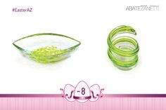 Glass Design, Murano Glass, Easter Eggs, Ornament, Oil, Decoration, Ethnic Recipes, Green, Table