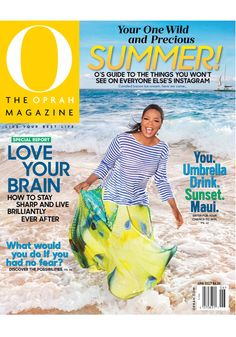 """This month, Oprah got her feet wet. The O team has cover shoots down to a science, but sometimes spontaneity is the order of the day. The crew was just starting to set up lights in Oprah's Maui home, the jewelry options were being methodically arranged, and the snacks were about to make an appearance, when our cover model had a flash of inspiration: """"Let's go to the beach!"""" And faster than you can say """"Surf's up!"""" everyone headed to the Four Seasons Resort Maui at Wailea."""