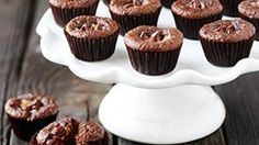 Chocolate and peanut butter swirl together to make these mini cupcakes extra delicious!