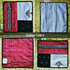 "TITLE : Black Beauty Small. MEDIUM : Embroidery, Textureart, Materialart and motif work on cloth. SIZE : 12"" ×12"". #MeghnaCreations #creative #smallcushioncovers #blaclbeautysmall #set #patternart #redbandhini #check #halfflower #embroidery #blackikat #textureartist #materialarts #artcombo #stylish #raw #homestylesense #homearts #interiors #accessorydesigner #gift #mumbai #instacushions"