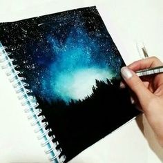 draw galaxy space stars night