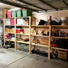 easy inexpensive garage shelving