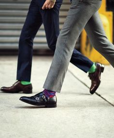 Always match socks with the outfit! Check on my board 'important mini-guides' the post about shoes,and in the last part about socks http://pinterest.com/pin/470204017315501021/