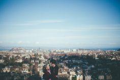 Quirky pre wedding photography at Blackford Hill, Edinburgh.