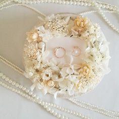 ホワイトパールのリングピロー by ichika フラワー