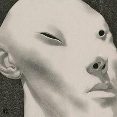 Edward Kinsella Illustration: Page 7 Graphic Design Illustration, Graphic Design Art, Illustration Art, Exhibition Poster, Illusion Art, Figurative Art, Art Inspo, Illusions, Creepy