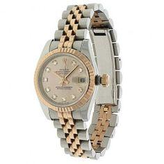 Rolex Datejust Womens Two Tone Watch