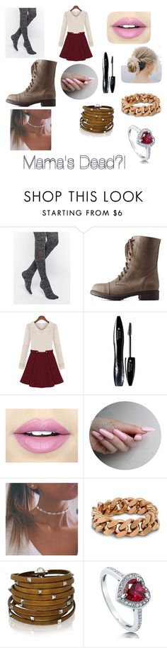 """Mama's Dead?!"" by ci-cis-pizza ❤ liked on Polyvore featuring Emilio Cavallini, Charlotte Russe, Lancôme, Fiebiger, STELLA McCARTNEY, Sif Jakobs Jewellery, BERRICLE, women's clothing, women and female"