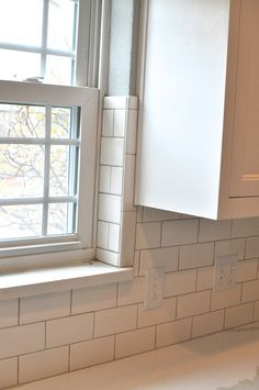 Elegant Tile Around Window