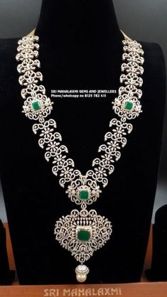 18 carat gold multipurpose 6 in 1 diamond emerald haram. It can be worn in multiple ways like Vaddanam, Jada, Locket, Choker and Bajubandh. Indian Jewellery Design, Indian Jewelry, Jewellery Designs, Greek Jewelry, Gold Jewelry, Diamond Choker Necklace, Diamond Jewellery, Bridal Jewellery, Dimond Necklace