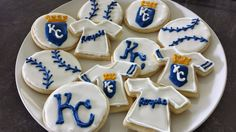 Kansas City Royals baseball cookies