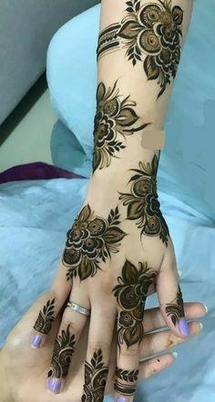 Khafif Mehndi Design, Rose Mehndi Designs, Henna Tattoo Designs Simple, Stylish Mehndi Designs, Full Hand Mehndi Designs, Mehndi Designs 2018, Henna Art Designs, Mehndi Designs For Fingers, Dulhan Mehndi Designs