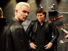 Two vampires even a Slayer could love…and has, repeatedly. Boreanaz' fashionably scruffy bloodsucker, Angel, has a soul, thanks to a gypsy curse, which leaves him one complicated character. Then there's Spike (Marsters), the dry-witted Sid Vicious of the undead, who starts off sans soul but labors to receive one and ultimately saves Sunnydale, and humanity, in the process.