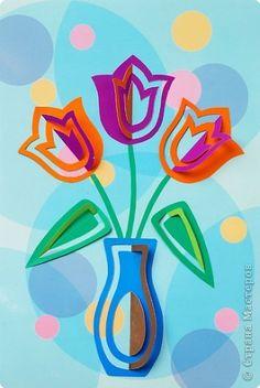 С праздником 8 марта! Games For Kids, Art For Kids, Spring Crafts For Kids, Spring Art, Paper Stars, Kirigami, Easter Crafts, Spring Flowers, Flower Art