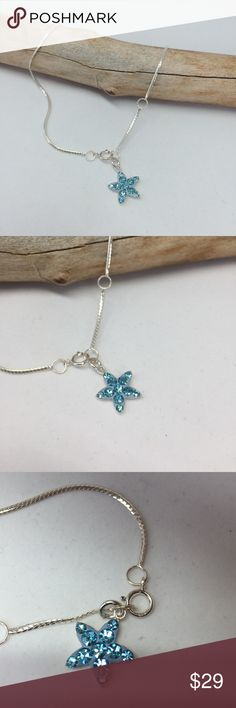 Swarovski Crystal Anklet Bracelet Perfect for this summer! Super cute Swarovski crystal starfish Anklet.                   •Solid .925 Sterling silver, NOT PLATED OR FILLED.                                                                                      •Excellent Quality Handmade in Taxco Mexico• •BRAND NEW WITH TAG•BUNDLE TO SAVE•.   I PRICES MY ITEMS REALLY LOW NO LOWBALLING  ( consider PM 20% fee ) Jewelry
