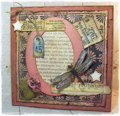 MAXymalnie Papierowo: Różowa vintage... z ważką