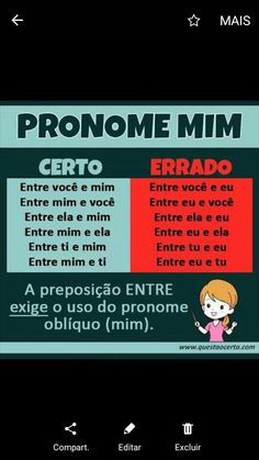 o pronome e os ramstein ou bánda que os valha -_- now go and -_- go and -_- go and É nos withouts que se -_- Portuguese Grammar, Portuguese Words, Learn Brazilian Portuguese, Portuguese Lessons, Portuguese Language, Mental Map, Bullet Journal School, School Subjects, College Fun