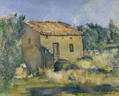 oil painting Landscape Abandoned House near Aix en Provence by Paul Cezanne art for sale Hand painted High quality Aix En Provence, Cezanne Art, Paul Cezanne Paintings, Paul Cézanne, Dallas Museums, Paul Gauguin, Impressionist Art, Abandoned Houses, French Artists