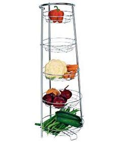 Rustic Vegetable Fruit Basket Storage Rack With Metal Frame For Home Kitchen Ebay