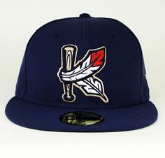 The Kinston Indians Mens Casual Hats, Baseball Fitted Hats, Indian Hat, King Hat, Dope Hats, New Era Fitted, Minor League Baseball, Black Nike Shoes, Sports Uniforms