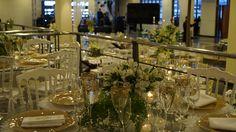 Casamento, branco, verde, dourado. Projeto e execução de Eliana Brandão decorações. Riqueza de detalhes e elegancia!