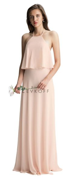 3d51c33022e Bill Levkoff  Levkoff 7006 Draped Halter Bridesmaid Dress