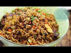 Chinese Fried Rice Recipe : Asian at Home Easy Fried Rice - YouTube